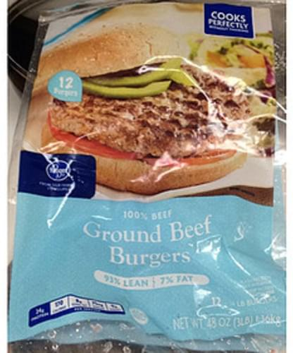 Kroger Ground Beef Burgers - 112 g