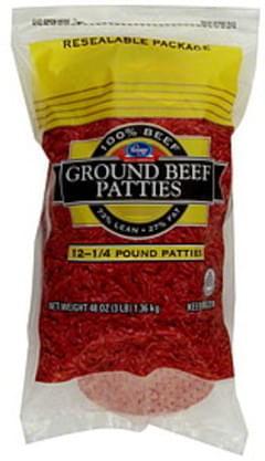 Kroger Ground Beef Patties