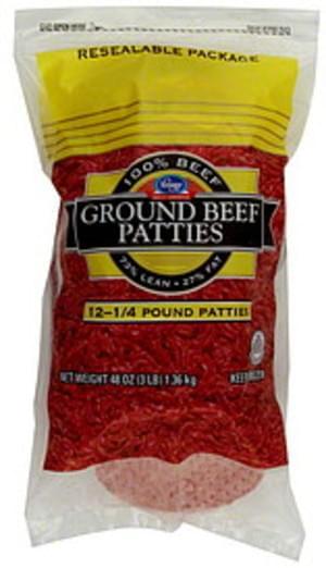 Kroger Ground Beef Patties - 48 oz