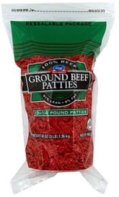 Kroger Beef Patties Ground