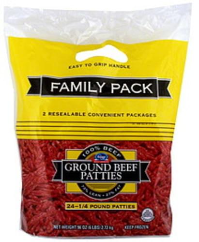 Kroger Ground, Family Pack Beef Patties - 24 ea