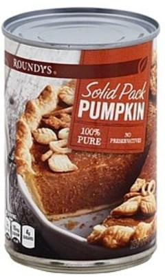 Roundys Pumpkin 100% Pure, Solid Pack