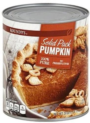Roundys Solid Pack Pumpkin - 29 oz