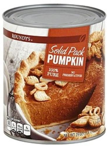 Roundys Solid Pack Pumpkin - 29 oz