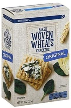 Roundys Crackers Baked, Woven Wheats, Original