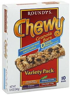 Roundys Granola Bars Chewy, Variety Pack