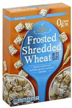 Roundys Cereal Frosted Shredded Wheat, Bite Size