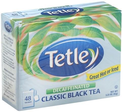 Tetley Classic, Decaffeinated Black Tea - 48 ea
