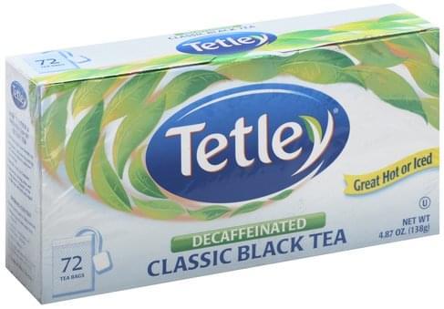 Tetley Classic, Decaffeinated, Tea Bags Black Tea - 72 ea