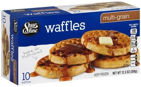 Shurfine Multi-Grain Waffles - 10 ea