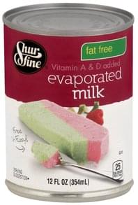 Shurfine Milk Evaporated, Fat Free