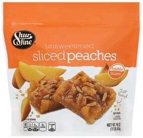 Shurfine Peaches Sliced, Unsweetened