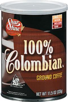 Shurfine Coffee 100% Colombian Med-Dark Roast Ground