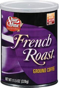 Shurfine Coffee French Roast Dark Roast Ground