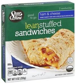 Shurfine Stuffed Sandwiches Lean, Ham & Cheese