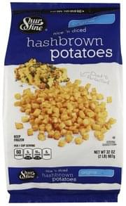 Shurfine Hash Brown Potatoes Nice 'N Diced, Original
