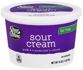 Shurfine Sour Cream Fat Free