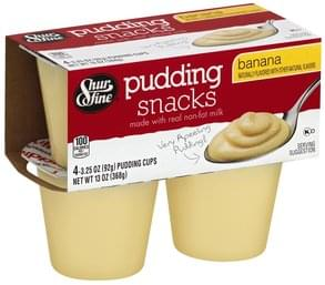 Shurfine Pudding Snacks Banana