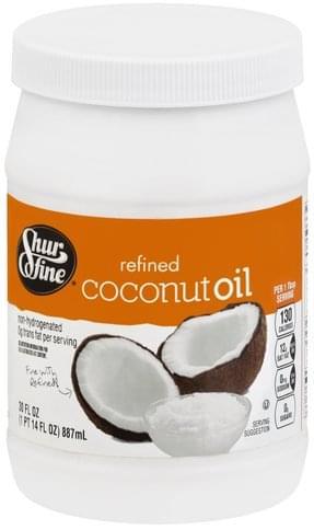 Shurfine Refined Coconut Oil - 30 oz