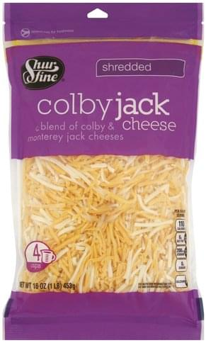 Shurfine Shredded, Colby Jack Cheese - 16 oz, Nutrition