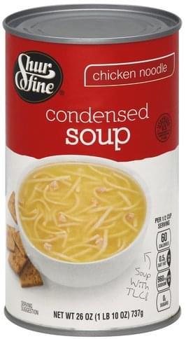 Shurfine Condensed, Chicken Noodle Soup - 26 oz, Nutrition