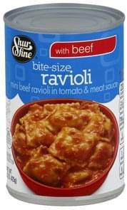 Shurfine Ravioli Bite-Size, with Beef