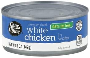 Shurfine Chicken White, Premium Chunk, in Water