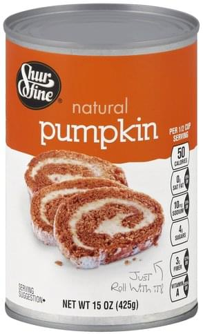 Shurfine Natural Pumpkin - 15 oz