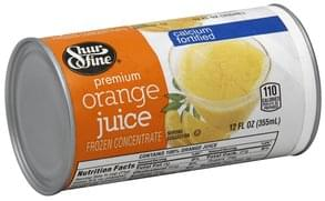 Shurfine Orange Juice Premium, Calcium Fortified