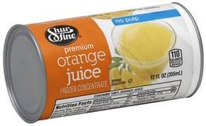 Shurfine Orange Juice Premium, No Pulp