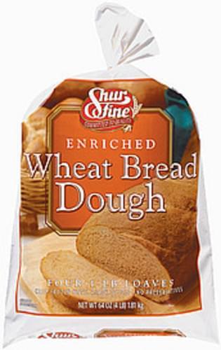Shurfine Wheat Bread Dough - 64 oz