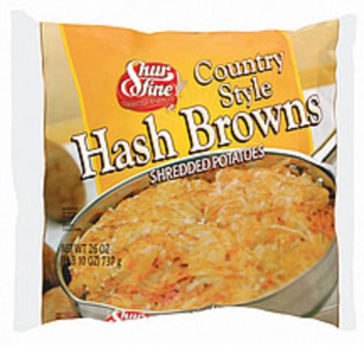 Shurfine Country Style Shredded Hash Browns - 26 oz