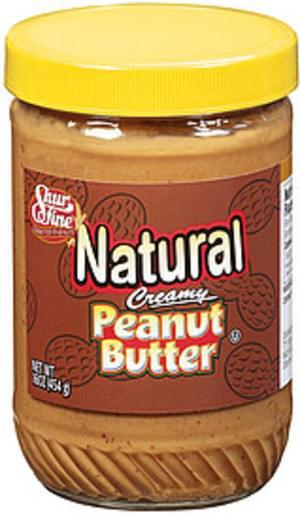 Shurfine Creamy Natural Peanut Butter - 16 oz