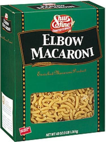 Shurfine Elbow Macaroni Pasta - 48 oz