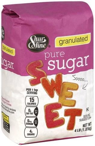 Shurfine Pure, Granulated Sugar - 4 lb