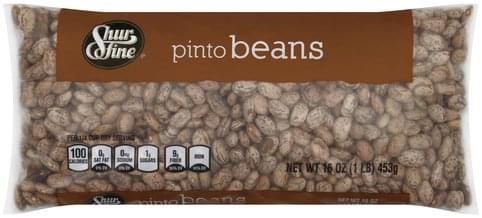Shurfine Pinto Beans - 16 oz