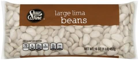 Shurfine Large Lima Beans - 16 oz
