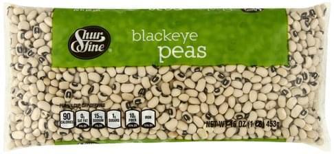 Shurfine Blackeye Peas - 16 oz
