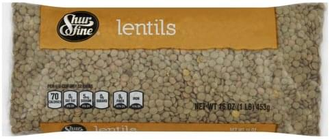 Shurfine Lentils - 16 oz