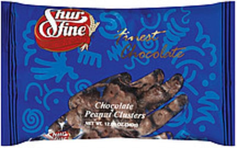 Shurfine Chocolate Covered Peanut Clusters - 12 oz