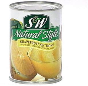 S & W Natural Style Grapefruit Sections