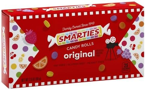 Smarties Original Candy Rolls - 3.5 oz