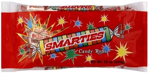 Smarties Assorted Flavors Candy Rolls - 12 oz