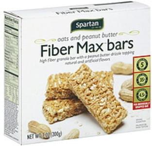 Spartan Fiber Max Bars Oats and Peanut Butter
