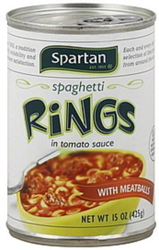 Spartan with Meatballs, in Tomato Sauce Spaghetti Rings - 15 oz