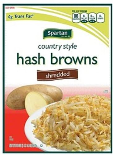 Spartan Country Style, Shredded Hash Browns - 30 oz