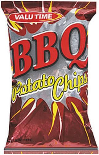 Valu Time BBQ Potato Chips - 5 oz