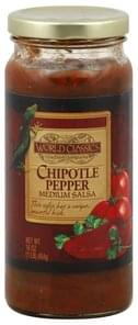 World Classics Salsa Medium, Chipotle Pepper