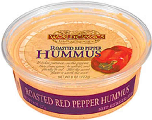 World Classics Trading Company Roasted Red Pepper Hummus - 8 oz