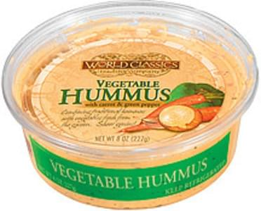 World Classics Trading Company Hummus Vegetable W/Carrot & Green Pepper